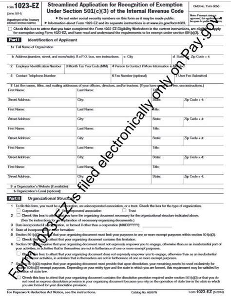 New IRS Form 1023-EZ make applying for tax exempt status ... 1023 Ez Status