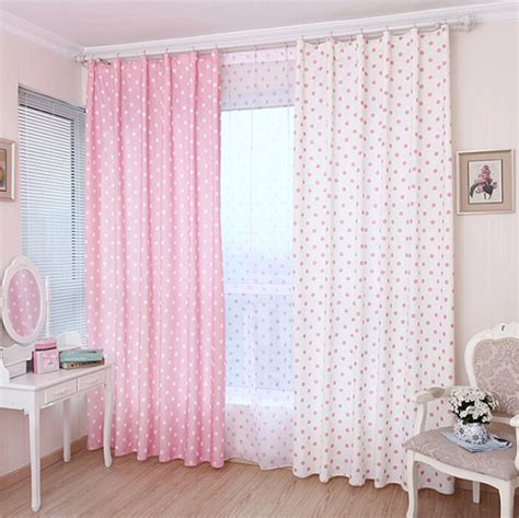 polka dot kids curtains lovely pink cotton fabric kids curtain with polka dots pattern