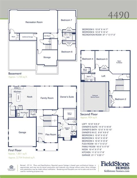 fieldstone homes floor plans 4490 fieldstone homes utah home builder new homes for