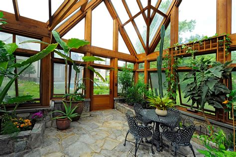 10 green home design ideas greenhouse pavilion koi pond and stone driveway