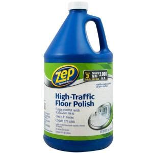 zep 128 oz high traffic floor polish zuhtff128 the home depot