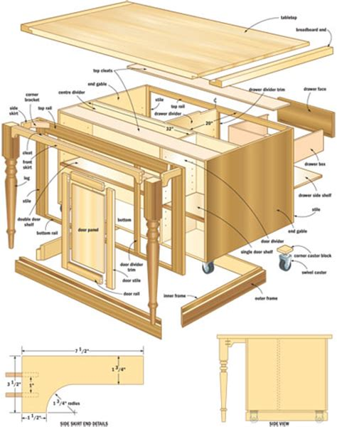 plans for a kitchen island woodwork wood plans kitchen island pdf plans