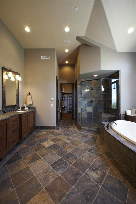 slate bathrooms slate flooring pictures pinterest wood vanity