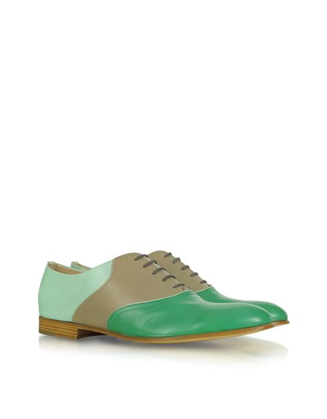 color oxford shoes fratelli rossetti color block leather oxford shoes in