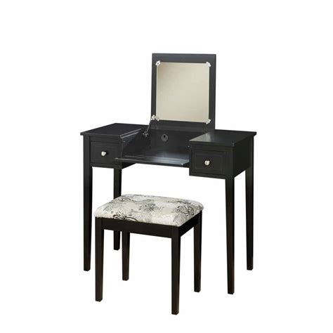 vanity and bench linon home decor black bedroom vanity table with butterfly