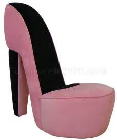schuh stuhl pink fabric modern stylish high heel shoe chair