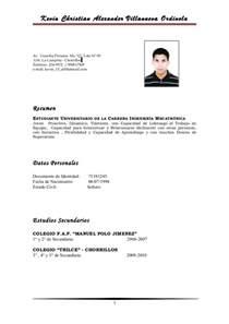 Modelo Curricular Peruano Modelo De Curriculum Vitae Universitario Modelo De Curriculum Vitae