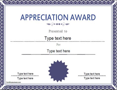 gratitude certificate template memorial day education certificate appreciation award