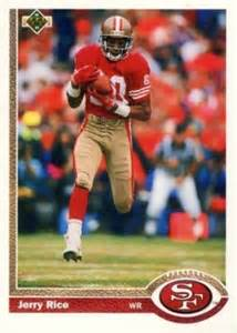 deck football cards value 1991 deck jerry rice 57 football card value price guide