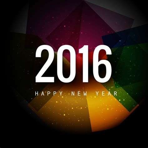 new year 2016 vector free colorful happy new year 2016 card vector free