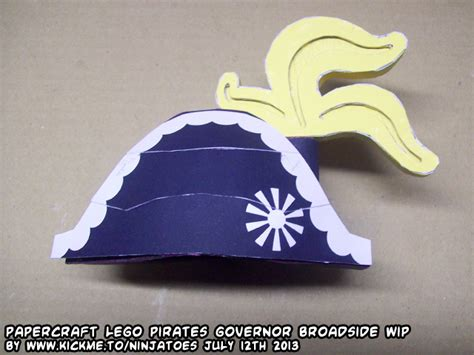 Papercraft Hat - papercraft lego governorbroadside minifig hat test by