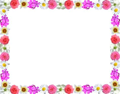 printable borders with flowers flower borders free clipground