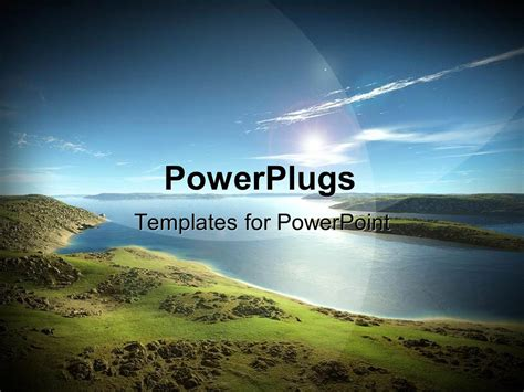 powerpoint themes river powerpoint template beautiful scenery of blue river and