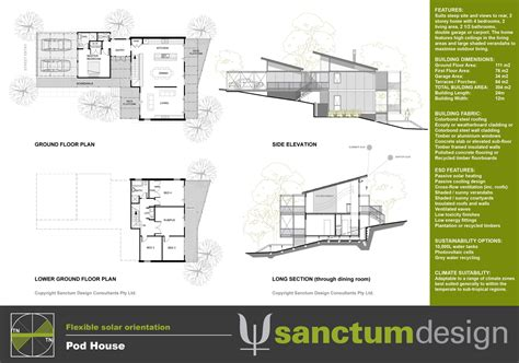steep slope house plans sanctum design environmentally responsible home design
