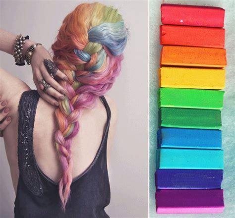 hair chalking a new look at diy hair color stylenoted rainbow set hair chalk hair tint hair stain ombre hair