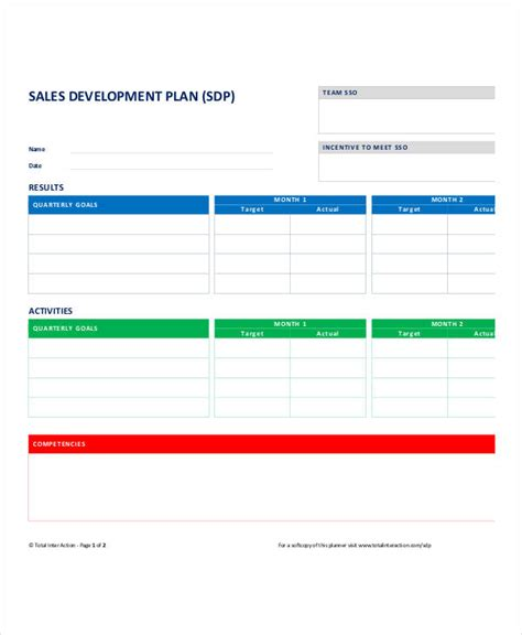 sales plan template personal sales plan templates 5 free pdf format download free premium templates