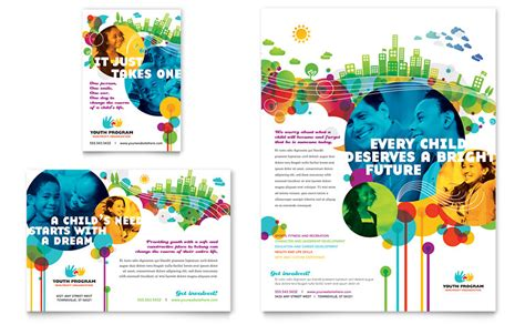 youth program flyer ad template word publisher