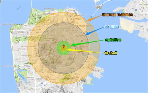 nuclear map nuclear explosion map simulates fallout clouds using local