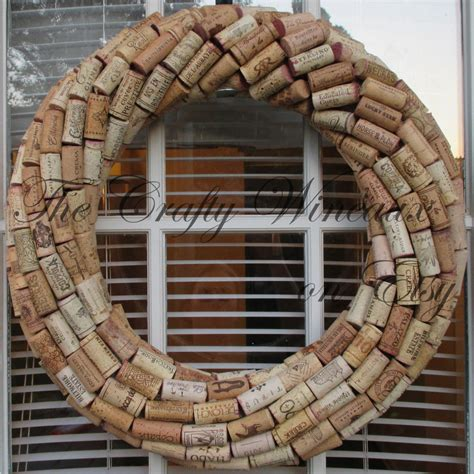 Large 19 Quot Wine Cork Large 19 Quot Handmade Wine Cork Wreath Without Grapes The Crafty Wineaux