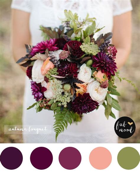 Fall Wedding Bouquets by Magnificent Autumn Wedding Bouquets Purple Wedding