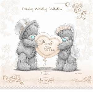 personalised tatty teddy wedding invitations me to you wedding evening invitations 2011 design