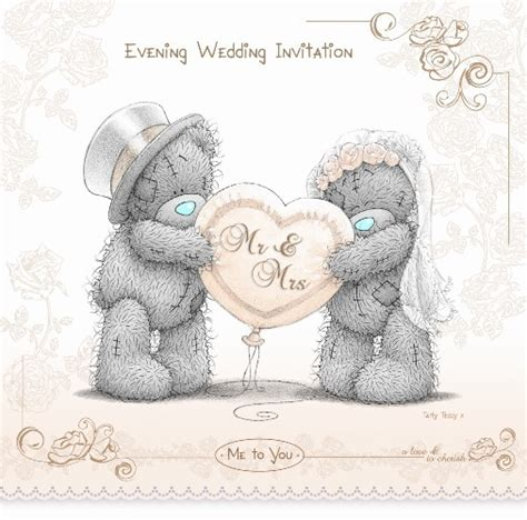 tatty teddy wedding evening invitations me to you wedding evening invitations 2011 design