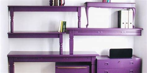 purple bookcase comes with unique shape and purple color