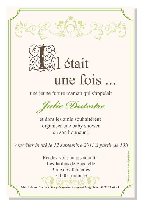 Baby Shower Text Invitations by Invitation Pour Baby Shower Quot Il 233 Tait Une Fois Quot Autres