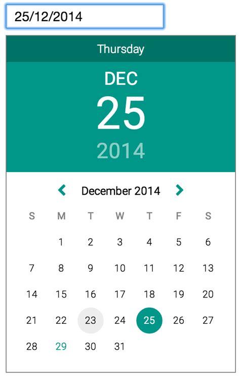material design calendar js github ch00kz material datepicker datepicker inspired