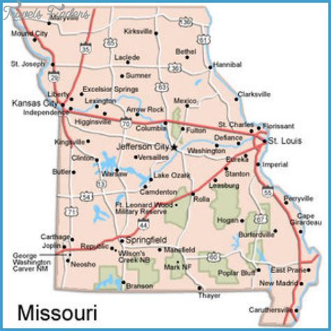 missouri attractions map st louis map tourist attractions travelsfinders
