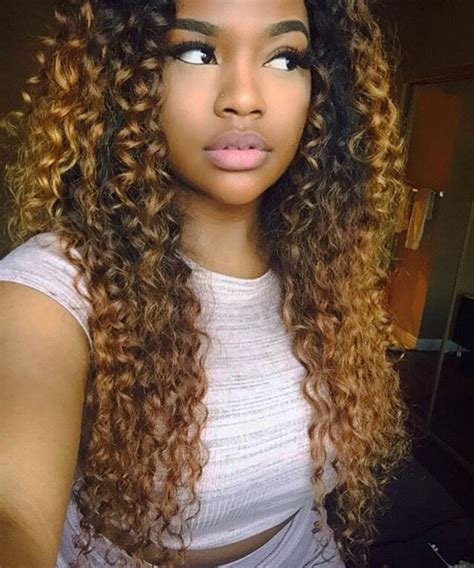 Curly Hairstyles For Black With Weave by 17 Best Images About Sew In Vixen Weave On
