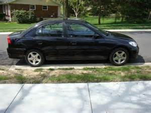 sell used 2004 honda civic ex sedan 4 door 1 7l black