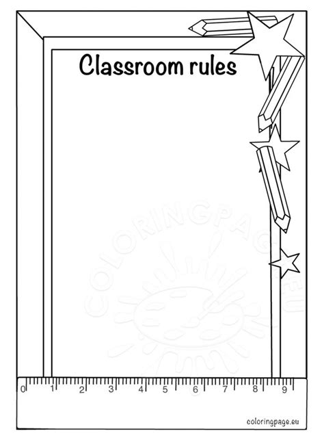 preschool rules coloring pages classroom rules coloring page coloring page