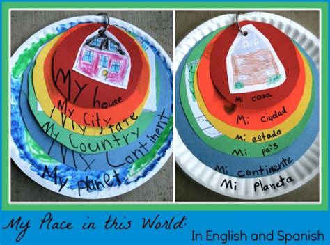 geography crafts for quot my place in the world quot geography project