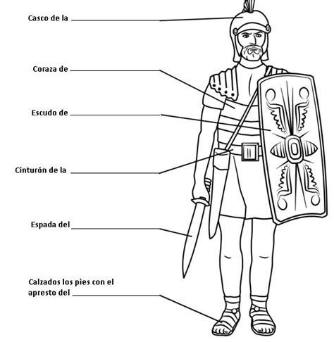 imagenes biblicas en pdf soldado romano con la armadura de dios para colorear gif