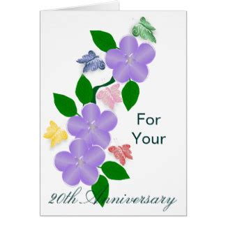 Wedding Anniversary Greeting E Cards by 20th Wedding Anniversary Greeting Cards Zazzle Co Uk