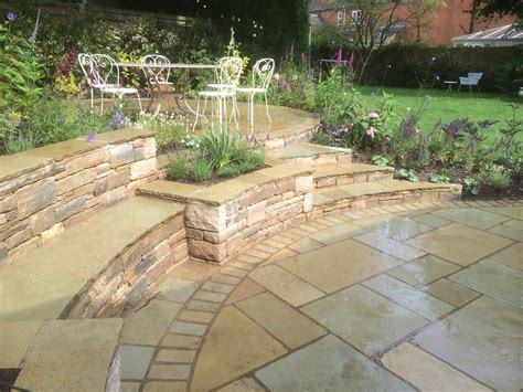Indian Stone Patio Design And Build Landscape Garden Indian Patio Design