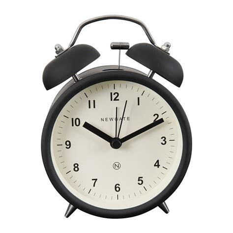buy newgate clocks charlie bell alarm clock matt black amara