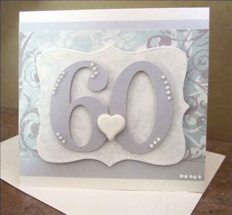 Wedding Anniversary Cards To Make by Altered Scrapbooking 60th Anniversary Card
