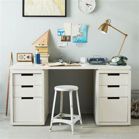 Modular Office Basic Desk Set White West Elm White Modular Desk