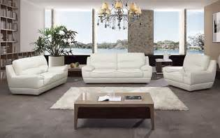 3 pc modern white italian top grain leather sofa loveseat