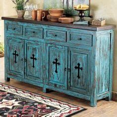 lone home decor western turquoise santa fe cross buffet from lone western decor stylish western home