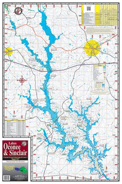 lake oconee map lake oconee lake sinclair 317 kingfisher maps inc