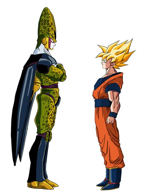 imagenes de goku vs cell goku vs cell by sonssj3 by sonssj3 on deviantart