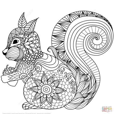 zentangles easy animal coloring coloring pages