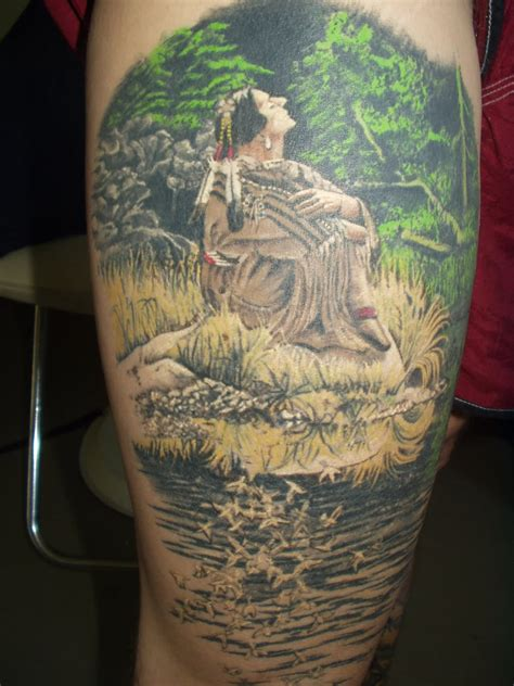 nice forest scenery tattoos