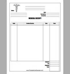 receipt template for medical example of medical receipt