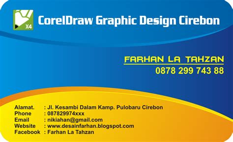 contoh desain kartu nama coreldraw x4 begron video joy studio design gallery best design