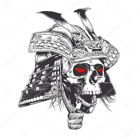 imagenes de calaveras a blanco y negro casco samurai blanco y negro con calavera vector de