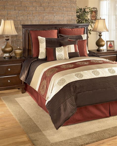 oversized king size bedding  milano russett king bedding set qk ashley